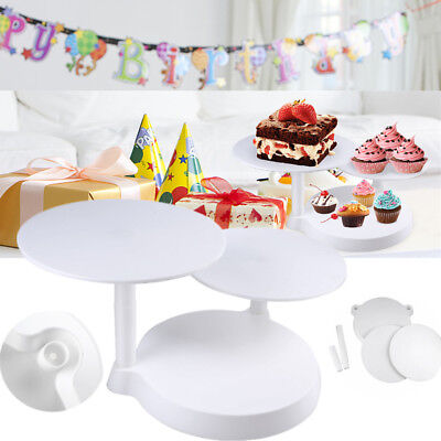 3 Tier Round Cake Rack Food Display Stand Home Christmas Party Wedding Holder UK