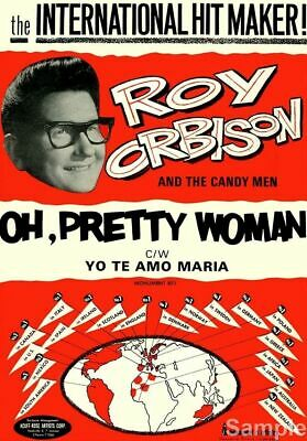Roy Orbison & The Candy Men Vintage Repro A4 Music Concert Poster Art Print