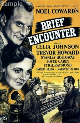 Brief Encounter Trevor Howard, Classic Movie Film Poster Print Picture A4