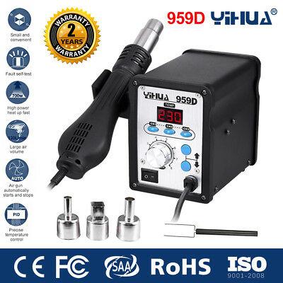 700W 959D Soldering Iron Station Hot Air Gun SMD Rework Station Welding Tool