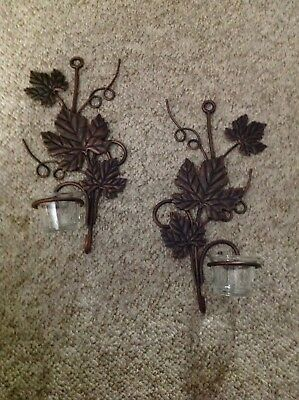 home interior candle sconces one set of 2