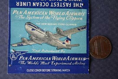1940-50s Era Pan American Airways Boeing Flying Clippers big souvenir matchcover