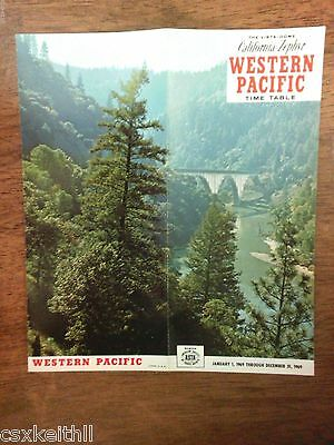 Western Pacific Jan. 1, 1969 Railroad Timetable - California Zephyr - *CLOSEOUTS