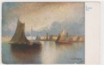 (K125-40) 1920 GB PC unused a summer day painting (AO)