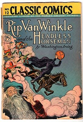 Classics Comics #12 Rip Van Winkle, Edition 5, HRN #28, Good Condition