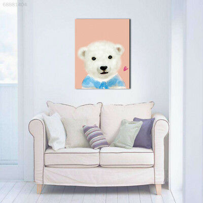 5EC5 77B3 Cute Cartoon Animal Polar Bear Oil Painting For Living Room Home Decor