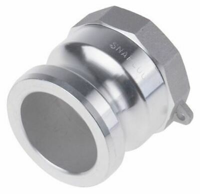 Straight Male Hose Coupling 2in Part A Cam & Groove Adapter, 2 in BSP, Aluminium