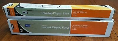 "Lot of 2 Quartet 64"" & 13"" Black Instant Display Easel Compact travel 29E 28E"