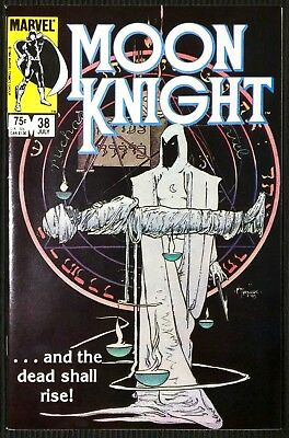 Moon Knight #38. HTF Last Issue!  (1984) Mike Kaluta cover.