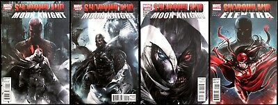 Shadowland:Moon Knight 1-3 & Elektra 1 Shot Mattina