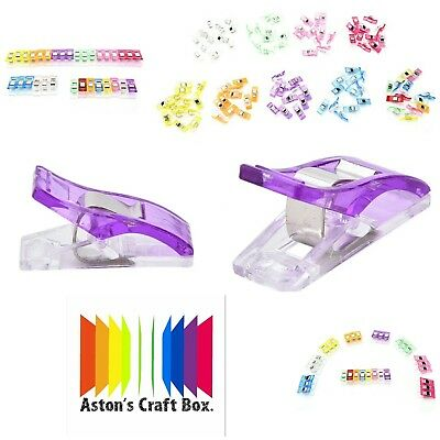 50 High Quality Wonder Clips Fabric Quilting Craft Sewing Knitting Crochet UK