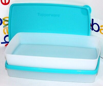 Tupperware Freeze-It Set of 2 Square Round 2.5 Cup Freezer Rectangles Snowflakes