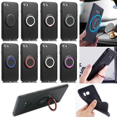 Outdoor Panzer Shockproof Slim Armor Magnet Ring Holder Stand Soft Case Cover 5