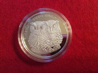 Belarus 2010 Proof Silver Eagle Owls - Bubo Bubo 20 rubles