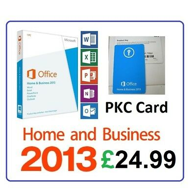 USED Microsoft Office 2013 Home and Business | 1 User 32/64Bit | PKC Card