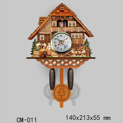 Decorative Collectibles Wooden Battery-operated Cuckoo Clock Home Décor K