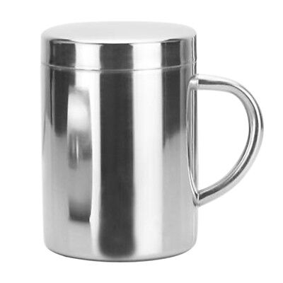 Lidded Cup Stainless Steel Insulate Travel Handle Mug Camping Cup Gift