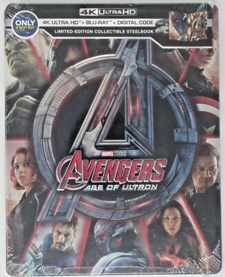 New! Avengers: Age of Ultron Limited Edtion Steelbook (4K, Blu-Ray) 786936860238