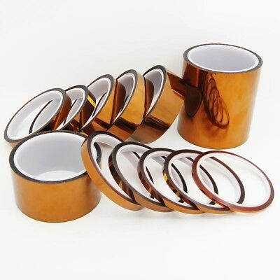 5/10/20mm x 33M 100ft Gold High Temperature Heat Resistant Kapton Tape Polyimide