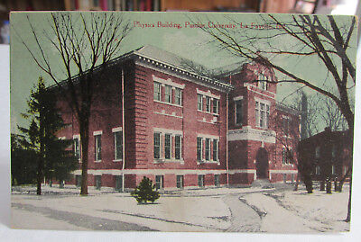 1908-15 PURDUE University Postcard of Physics Building Lafayette Indiana