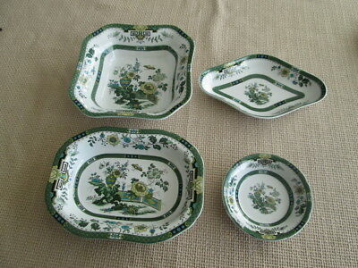 Set Of 4 Wedgwood Siam Green Pieces   Made In England