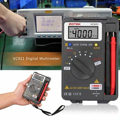 ZOTEK VC921 Mini Portable Digital Autoranging Multimeter Pocket Multimeter RO