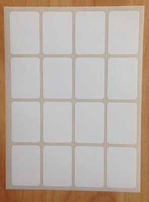 192 Small White Sticky Labels 19 X 27mm Price Stickers File,Blank,Self Adhesive,