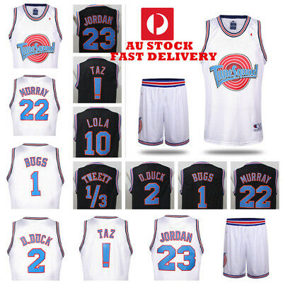 Space Jam Tune Squad Lola Bugs Movie Jersey Stitched Basketball Top AU STOCK