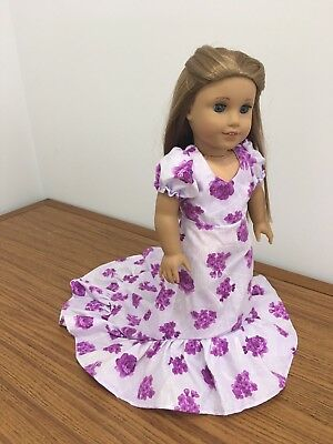 "Doll Clothes Gown Hawaiian Dress Holiday Floral For 18"" American girl Doll Nanea"