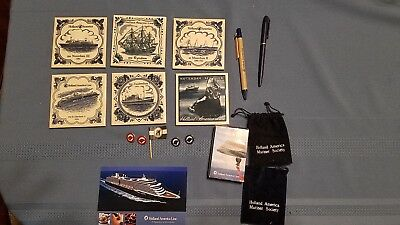 Holland America Line Ceramic Tile Coasters Set Cruise Ship Netherlands Set of 5