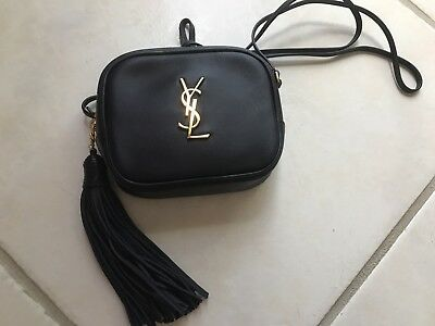 SAINT LAURENT YSL Monogram Blogger Bag Crossbody Dark Navy with Gold  Hardware 7485b69ca9dc6