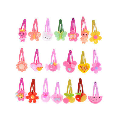 Wholesale 20pcs Mixed Cartoon Styles Baby Kids Girls HairPin Hair Clips PV
