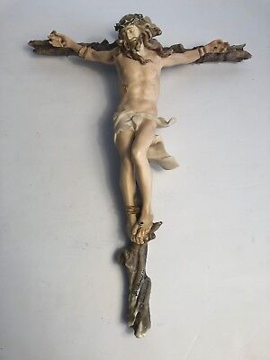 Vtg 1980's Giuseppe Armani Crucifix Limited Edition Florence Italy Sculpture