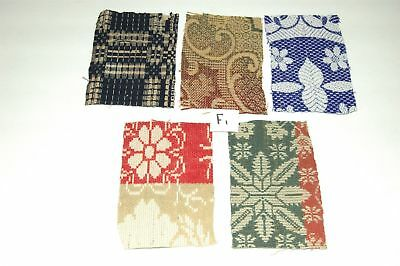 Antique Coverlet Pieces for Pillows Appliques Hearts Christmas Stockings F1