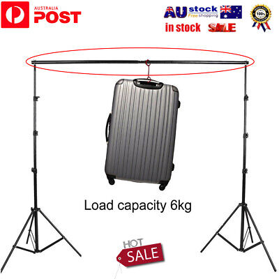 3m/10Ft Adjustable Photography Studio Backdrop Cloth Stand Crossbar Kit AZ