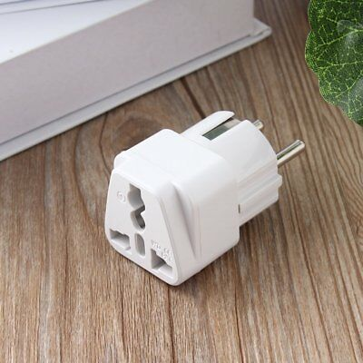 Universal AU US UK to EU AC Power Plug Travel Home Converter Adapter SU