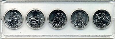 "2012 ""ATB"" NATIONAL PARK QUARTER 5-COIN SET P or D MINT BRILLIANT UNCIRCULATED"