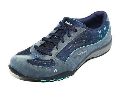 ddb04fa04038 Skechers Ladies Navy Blue Breathe Easy Just Relax Shoes Trainers UK 5 EU 38