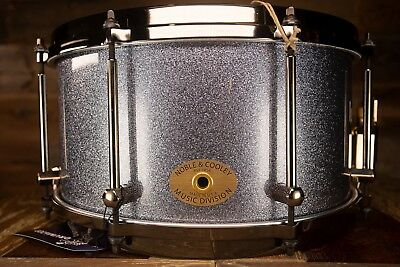 Noble & Cooley 13 X 7 SS Classic Maple Snare Drum, Hermatite Sparkle, Die-cast