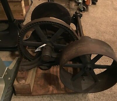 Antique Winch with Clutch  Industrial ART  MUST SEE!