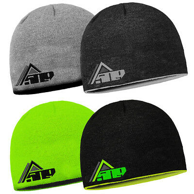 509 Reversible Knit Fabric Two-Color Warm Winter Snocross Snowmobile Beanie Hat
