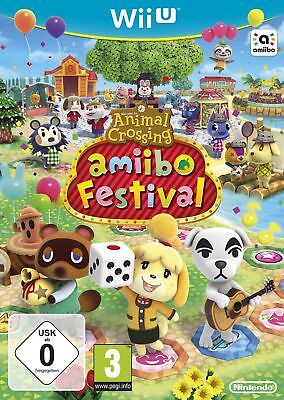 NINTENDO Wii U New Sealed Game Only ANIMAL CROSSING AMIIBO FESTIVAL  NOT FOR WII