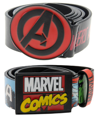 Official Marvel Avengers Metal Buckle Belt Junior Boys 3-6 Years