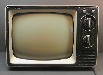 "Vintage JCPenney 11"" Black and White Television"