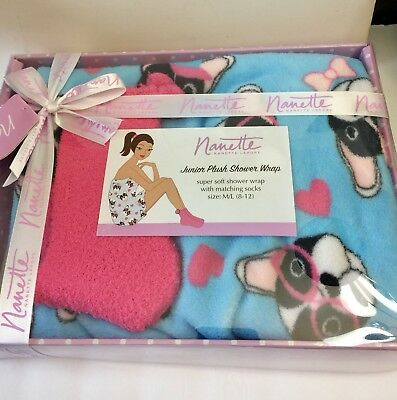 Frenchie Or Boston Terrier Bath Wrap And Socks