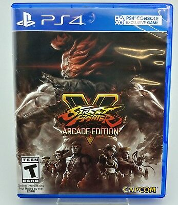 Street Fighter V Arcade Edition Sony PlayStation 4 PS4 Excellent Shape