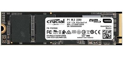 Crucial 1 TB Solid State Drive - PCI Express - Internal - M.2 2280 CT1000P1SSD8