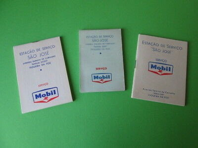 Vintage Lot Of Mobil Oil Advertising Note Adress And Kilometers Book 60's