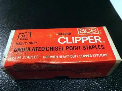 Ace Clipper Staples 80HD use with 82 Stapler Heavy Duty Closing Staples