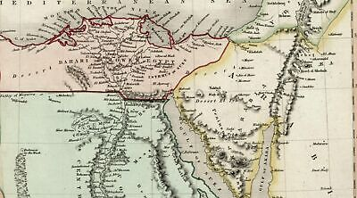 Egypt Africa c.1836 Dower beautiful map hand colored